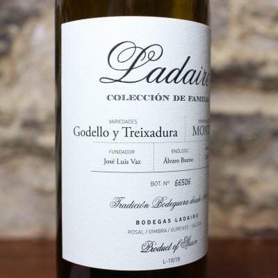 Ladairo Godello y Treixadura Monterrei detalle frontal 1