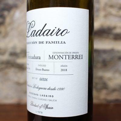 Ladairo Godello y Treixadura Monterrei detalle frontal 2