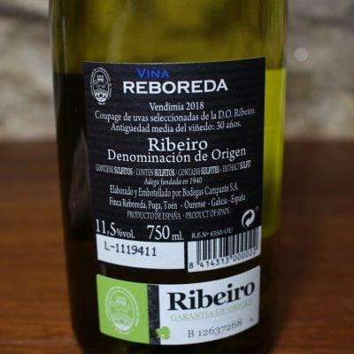 Ribeiro Viña Reboreda etiqueta detalle
